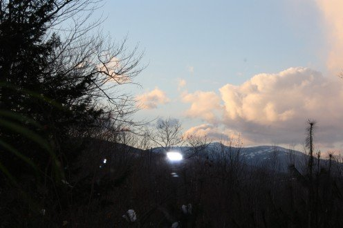 Photo out our West window of Mount Cardigan... highest peak in central New Hampshire. Will it be another time and place?