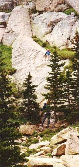Mountain climbing classes at Crystal Reservoir