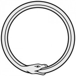 Ouroboros - the snake eating its tail has been said to be symbols of rebirth. Even though the Druids (also known as Naddreds) were not the ones to originate this symbol, they did have similer symbols!