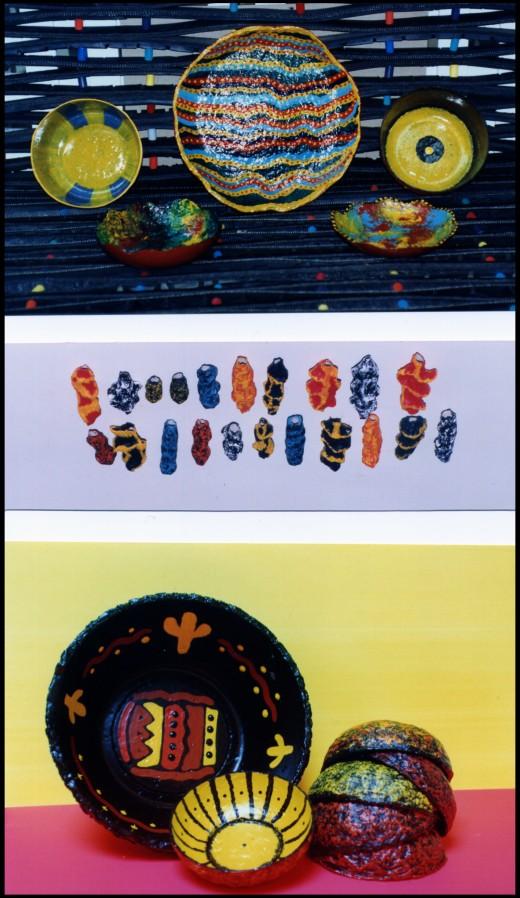 papier mache bowls. Papier Mache Bowls, Beads and