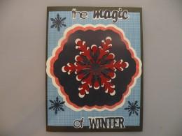 3 Smaller snowflakes adhered