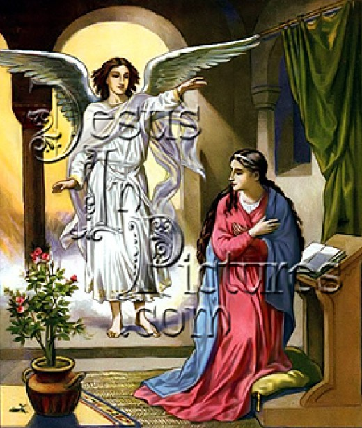 Angel appeared to Mary