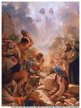 Stephan saw Jesus at the right hand of God