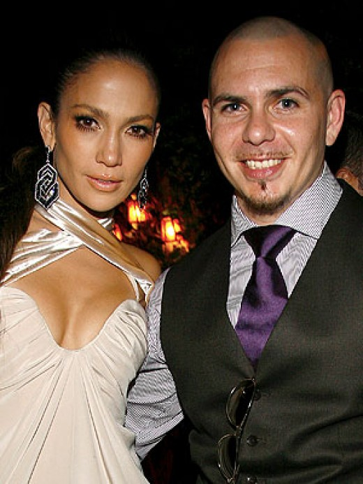 JLo and Pitbull, the rapper
