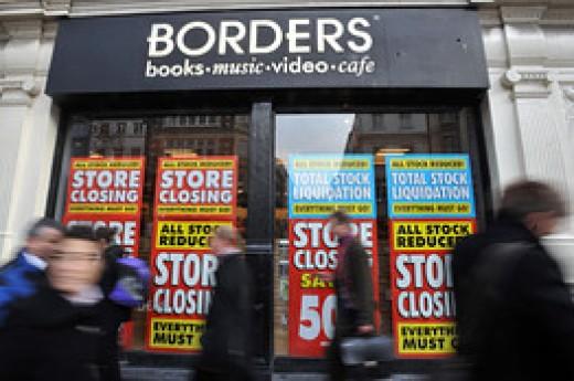 The borders bookstores close