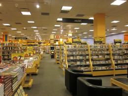 The interior of a Borders bookstore