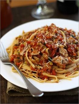 Spicy Tuna And Zucchini Pasta