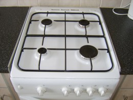 Gas stoves often have an electric ignition system
