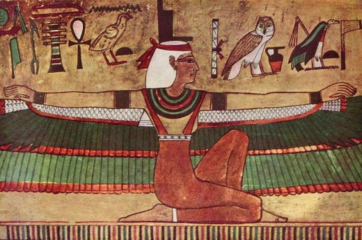 The Goddess Isis, wall painting, c. 1360 B.C.