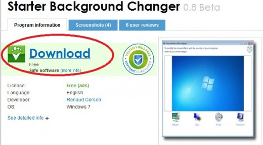 Warez on this blog windows 7 starter background changer - Windows 7 wallpaper changer software ...