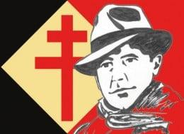 French Resistance logo (Jean Moulin and the 'Croix de Lorraine')