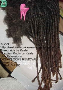 Dreadlocks Removal Before and After- Healthy Locs Take Down Service