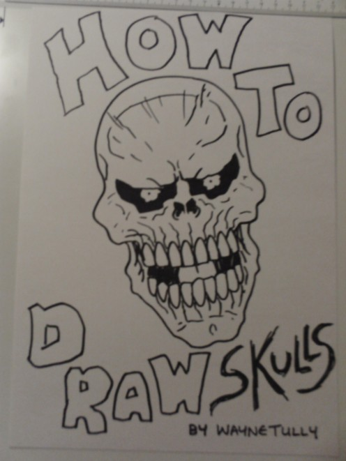 Draw skulls ebook by Wayne Tully