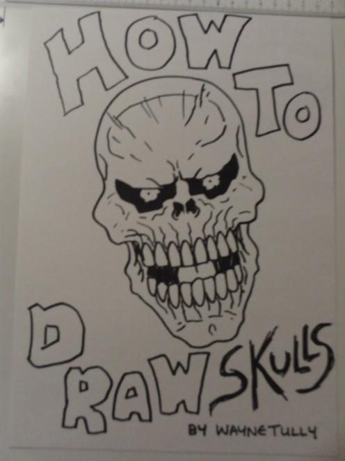 Draw skulls ebook by Wayne Tully