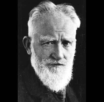 George Bernard Shaw - One of the greatest writers of plays in the English Language - but the man wasn't English, he was Irish.