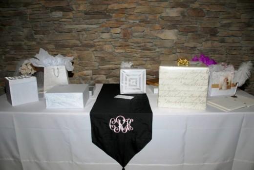 Wedding Reception Gift Table Ideas : Wedding Gift Table Sign Wedding gift table monogram