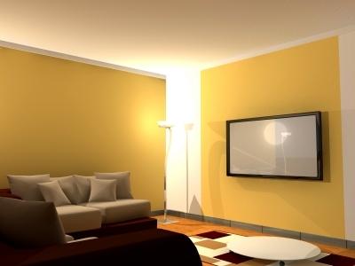 flat screen on a flat wall