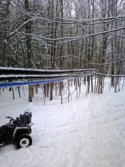 Winter wonderland maple sugar bush rush