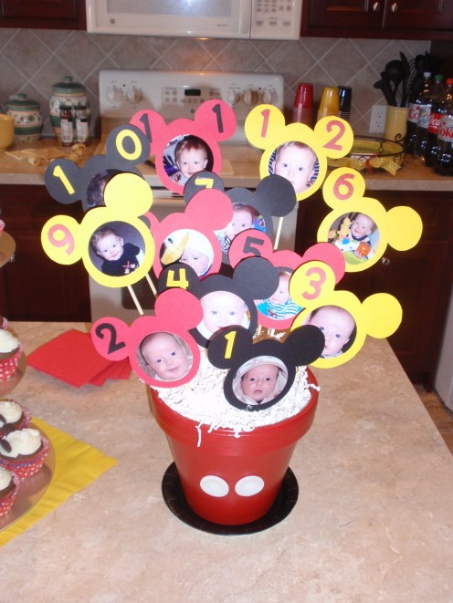 First Birthday Centerpieces - Mickey and Minnie