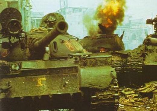NVA tank Destroyed