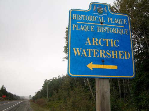 Sign on Highway 11, near Kenogami Lake