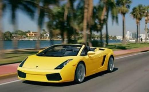 Lamborghini rental in Miami.