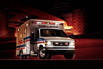 """The first ride in an ambulance... and hopefully the last. Being wrapped in numerous blankets on a stretcher leaves no way for a patient to grab the """"Oh Shit"""" handles while they speed off to the hospital."""