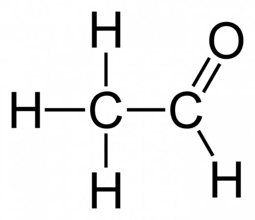 The main hydrocarbon chain has 2 carbons, and the terminating carbon has a double bonded oxygen attached to it: ethanal