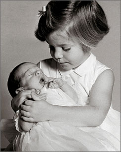 Caroline with her little brother John.