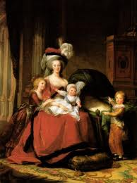 Queen Marie Antoinette and her children.