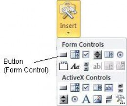 Insert a button in Excel