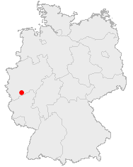 Map location of Bonn, Germany
