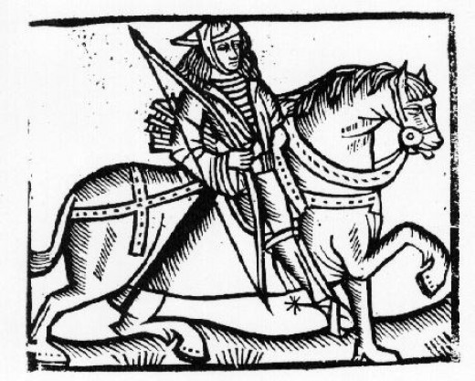 A Woodcut of Robin Hood -1508