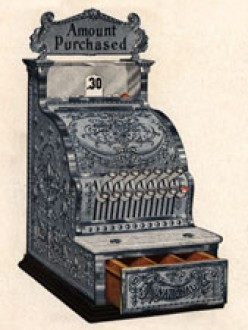 Antique 1908 National Cash Register