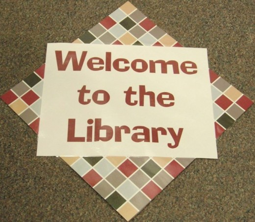 The library is a great location for a book club.