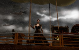 """This image, titled """"Exodus"""", was my first attempt at rendering SteamPunk themed art. I think it turned out pretty well."""