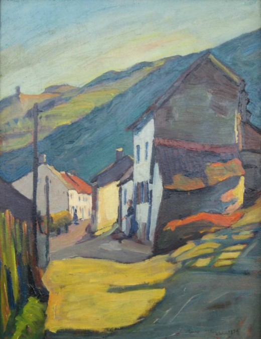 Nico Klopp's 1930 painting, Road at Bivels