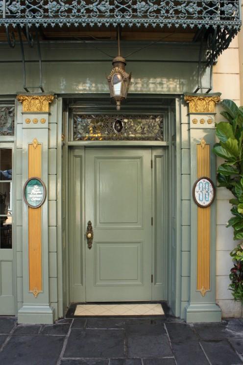 This unassuming door is the quiet entrance to Disneyland's exclusive Club 33.