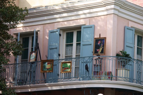 Behind thematic set dressing on the second story above New Orleans Square, special guests are wined and dined in Disneyland's exclusive Club 33.