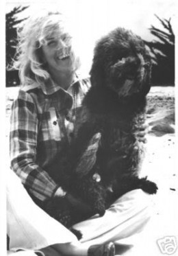Doris day and one of her beloved pets at home in california