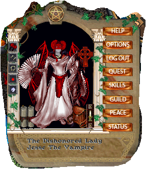 A photo of Jesse the Vampire's character from an Ultima Online Game