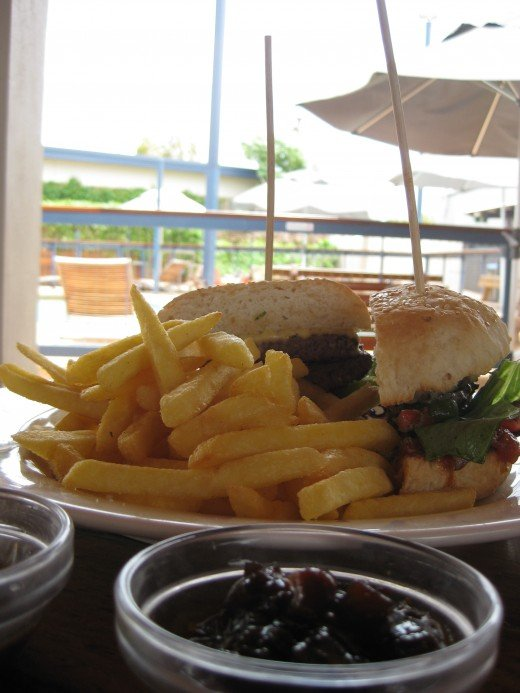 Potshot Burger at the Potshot hotel Exmouth WA