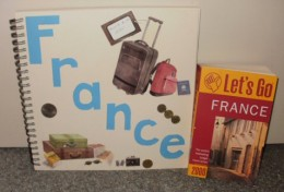 My France scrapbook and guide book