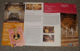 Brochures from the Palace of Versailles, along with the packaging from my apple candies 'from the King's Garden Kitchen'