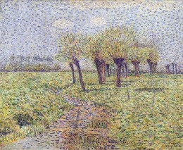 1900 painting by Paul Baum, 'Sint Anna ter Muiden, Meadows by the stream'