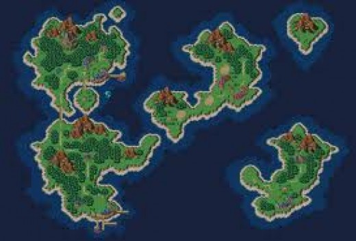 This is one of the world maps used for Chrono Trigger, an RPG released for several consoles over the years.