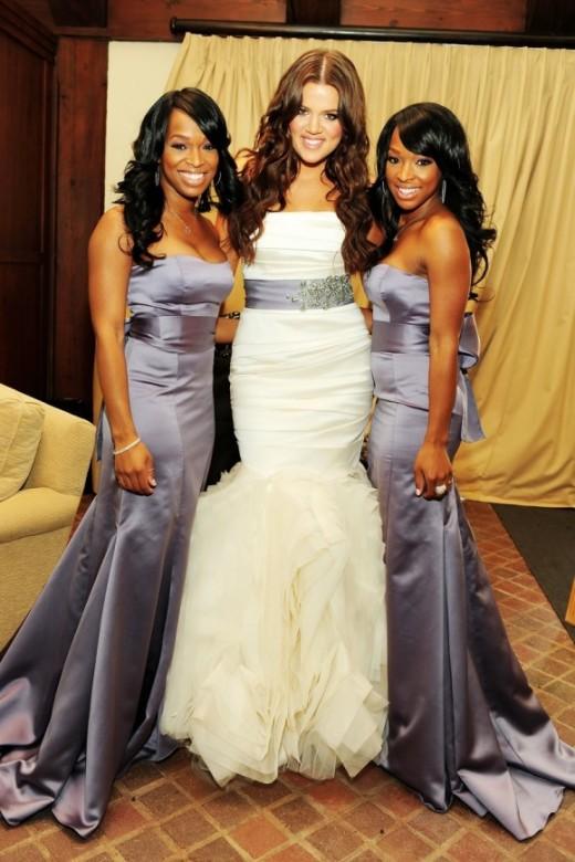 Khloe Kardashian's wedding dress and bridesmaid dresses