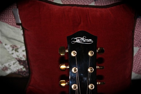 This is the headpiece of my McPherson MG-3.5 acoustic guitar.