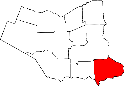Map location of Fort Erie, Ontario