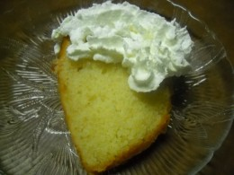 Simple pound cake soaked in Rum syrup sauce.